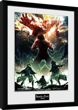 Attack On Titan Season 2 - Key Art Framed poster