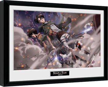 Framed poster Attack On Titan - Smoke Blast