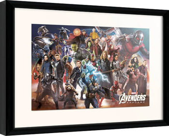 Framed poster Avengers: Endgame - Line Up