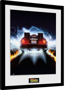 Framed poster Back To The Future - Delorean