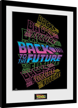 Back To The Future - Neon Framed poster