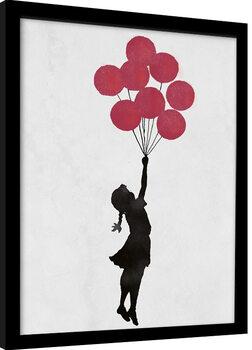 Framed poster Banksy - Girl Floating