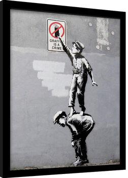 Framed poster Banksy - Grafitti
