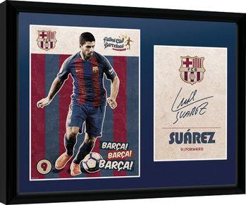 Barcelona - Suarez Vintage 16/17 Framed poster