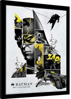 Framed poster Batman - 80th Anniversary