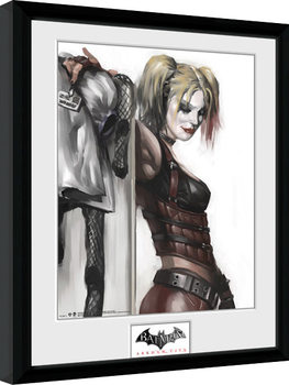 Framed poster Batman: Arkham City - Harley Quinn
