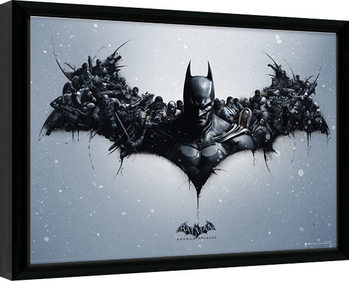 Framed poster Batman: Arkham Origins - Logo