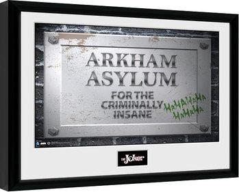 Batman Comic - Arkham Asylum Sign Framed poster