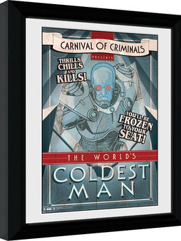 Batman Comic - Circus Coldest Man Framed poster