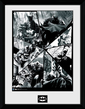 Batman Comic - Collage plastic frame