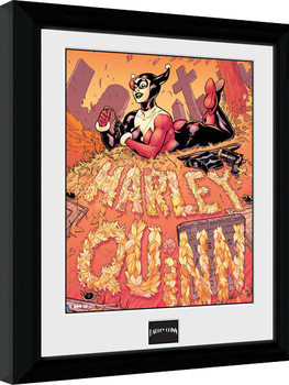 Batman Comic - Harley Quinn Graveyard Framed poster