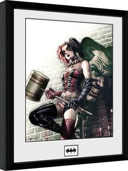Framed poster Batman Comic - Harley Quinn Hammer