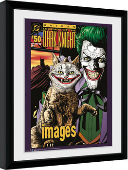 Framed poster Batman Comic - Joker Cat