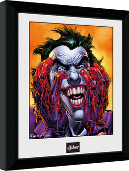 Framed poster Batman Comic - Joker Laugh