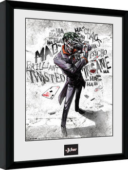 Batman Comic - Joker Type Framed poster