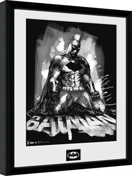 Batman Comic - Paint Framed poster