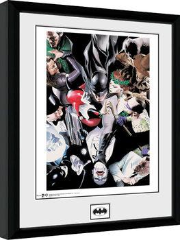 Framed poster Batman Comic - Villains