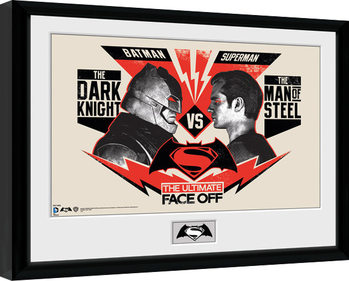 Batman Vs Superman - Face Off Framed poster