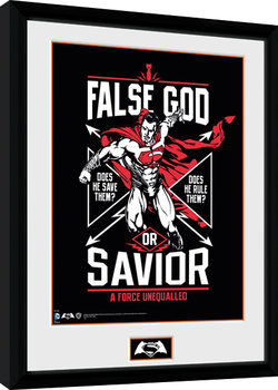 Batman Vs Superman - False God Framed poster