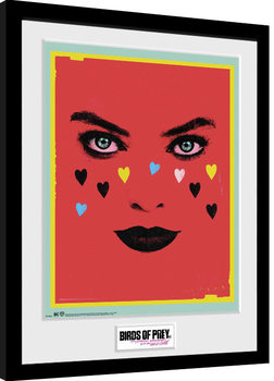 Framed poster Birds Of Prey: And the Fantabulous Emancipation Of One Harley Quinn - Face