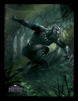 Black Panther - Forest Chase Framed poster