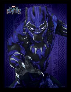 Framed poster Black Panther - Glow