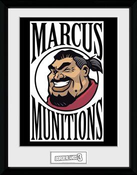 Borderlands 3 - Marcus Logo Framed poster