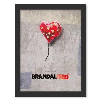 Framed poster Brandalised - Bandaged Heart