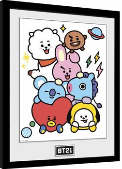 Framed poster BT21 - Characters Stack