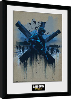 Call of Duty WWII - Front Line Beach Framed poster