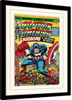Captain America - Madbomb Framed poster