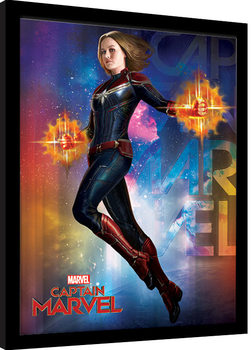 Captain Marvel - Space Framed poster