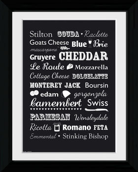 Cheese - Types Framed poster