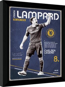 Chelsea - Lampard Retro Framed poster