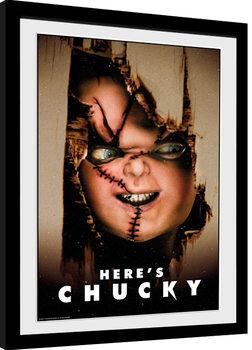 Framed poster Chucky - Here's Chucky