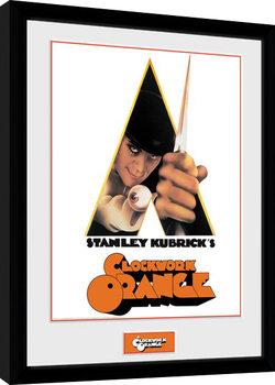Framed poster Clockwork Orange - Key Art White