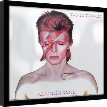 Framed poster David Bowie - Aladdin Sane