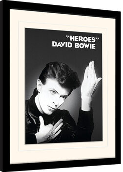 Framed poster David Bowie - Heroes