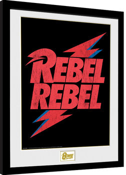 David Bowie - Rebel Rebel Logo Framed poster