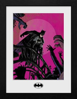 Framed poster DC Comics - Batman Arkham