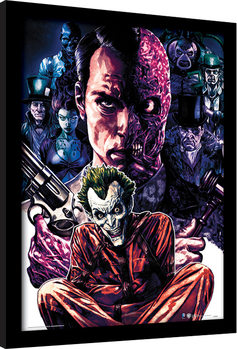 Framed poster DC Comics - Criminally Insane