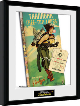 DC Comics - Hawkgirl Bombshells Framed poster