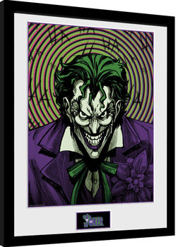 Framed poster DC Comics - Joker Insane