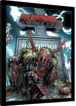Framed poster Deadpool - Grave