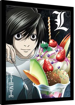 Framed poster Death Note - L Ice Cream