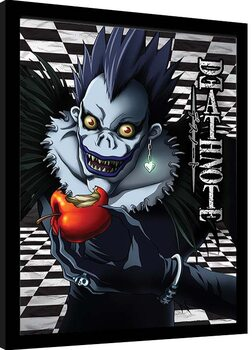 Framed poster Death Note - Ryuk Checkered