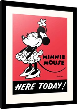 Framed poster Disney - Minnie Mouse - Here Today!