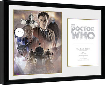 Framed poster Doctor Who - 10th Doctor David Tennant