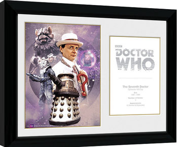Doctor Who - 7th Doctor Sylvester McCoy Framed poster