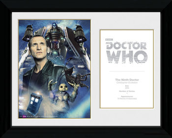 Doctor Who - 9th Doctor C. Ecclestone Framed poster
